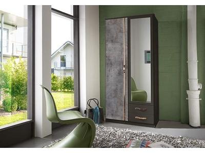 Armoire 2 portes 2 tiroirs Duo