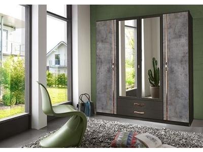 Armoire 4 portes 2 tiroirs Duo