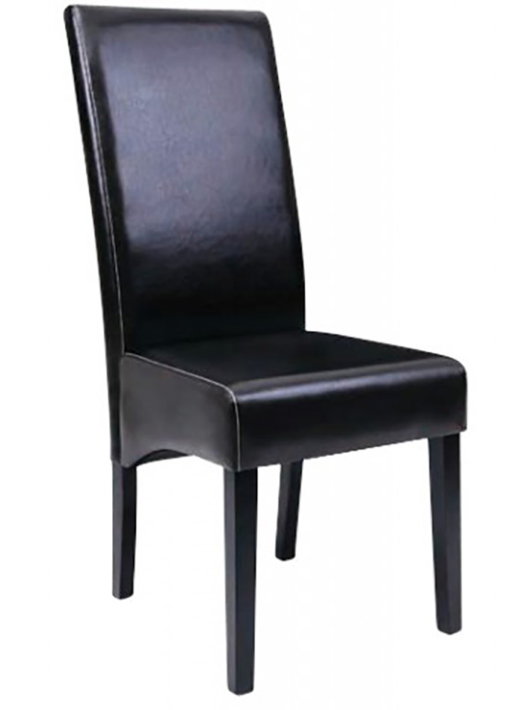 Chaise macao noir for Chaise salle a manger noire