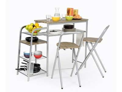 Ensemble table+2 chaises pliantes Cuisto
