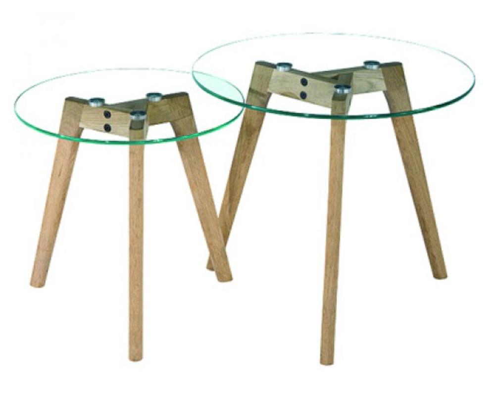 tables gigognes mixy verre chene. Black Bedroom Furniture Sets. Home Design Ideas