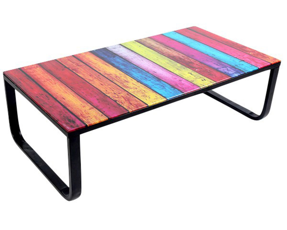 table basse rainbow multicolore. Black Bedroom Furniture Sets. Home Design Ideas