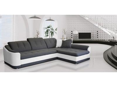 canap d 39 angle convertible droite bray soft blanc inari gris l 278 x h 77 x p 195. Black Bedroom Furniture Sets. Home Design Ideas