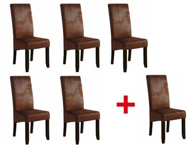 Lot de 5 chaises+1 offerte Sagua