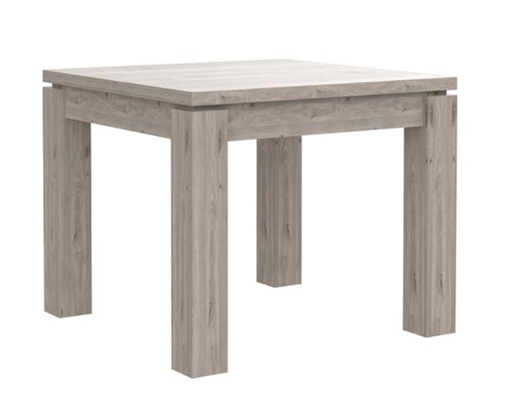 Table de repas carree stairs chene grise for Table de sejour carree