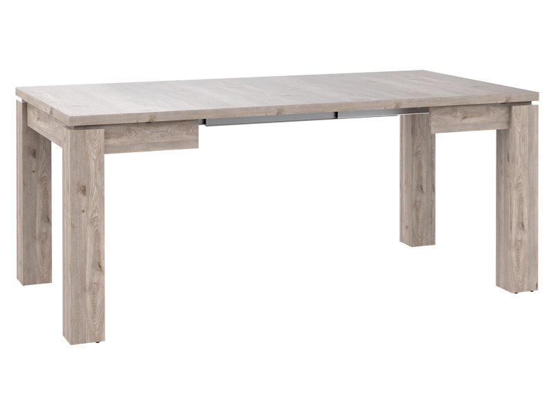Table de repas carree stairs chene grise - Table repas carree ...