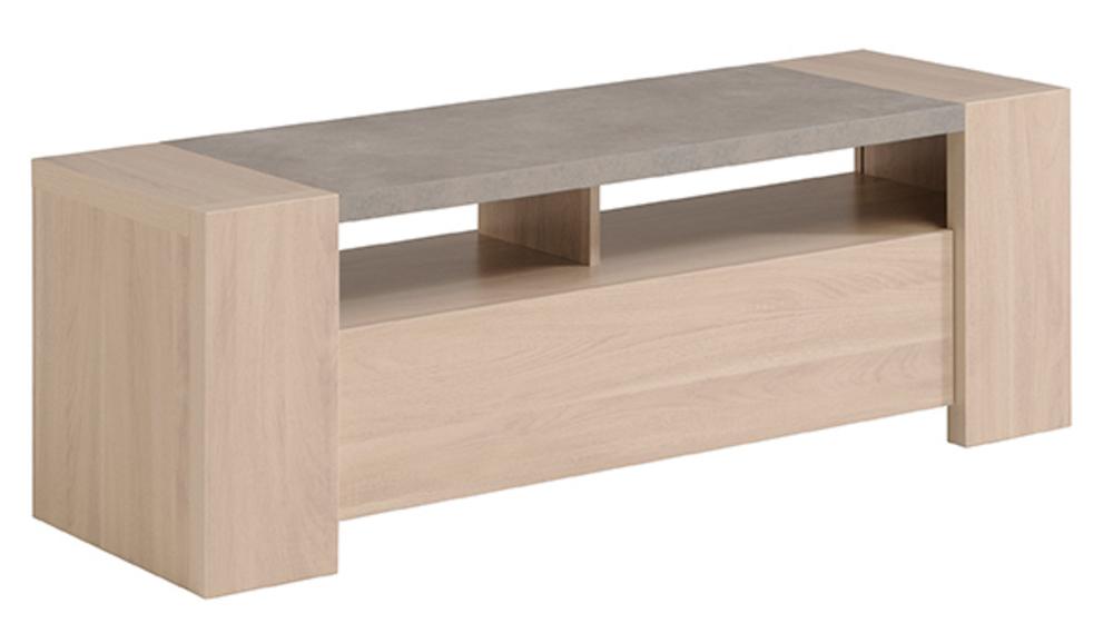 meuble tv gospel chene sesame beton. Black Bedroom Furniture Sets. Home Design Ideas