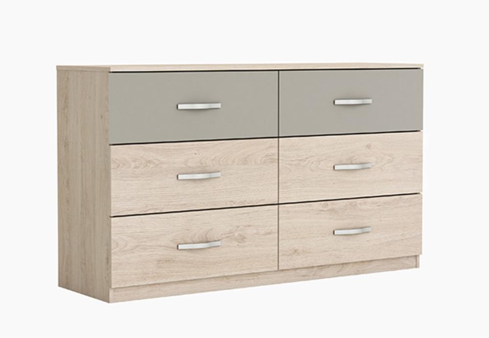 commode 6 tiroirs georgia. Black Bedroom Furniture Sets. Home Design Ideas