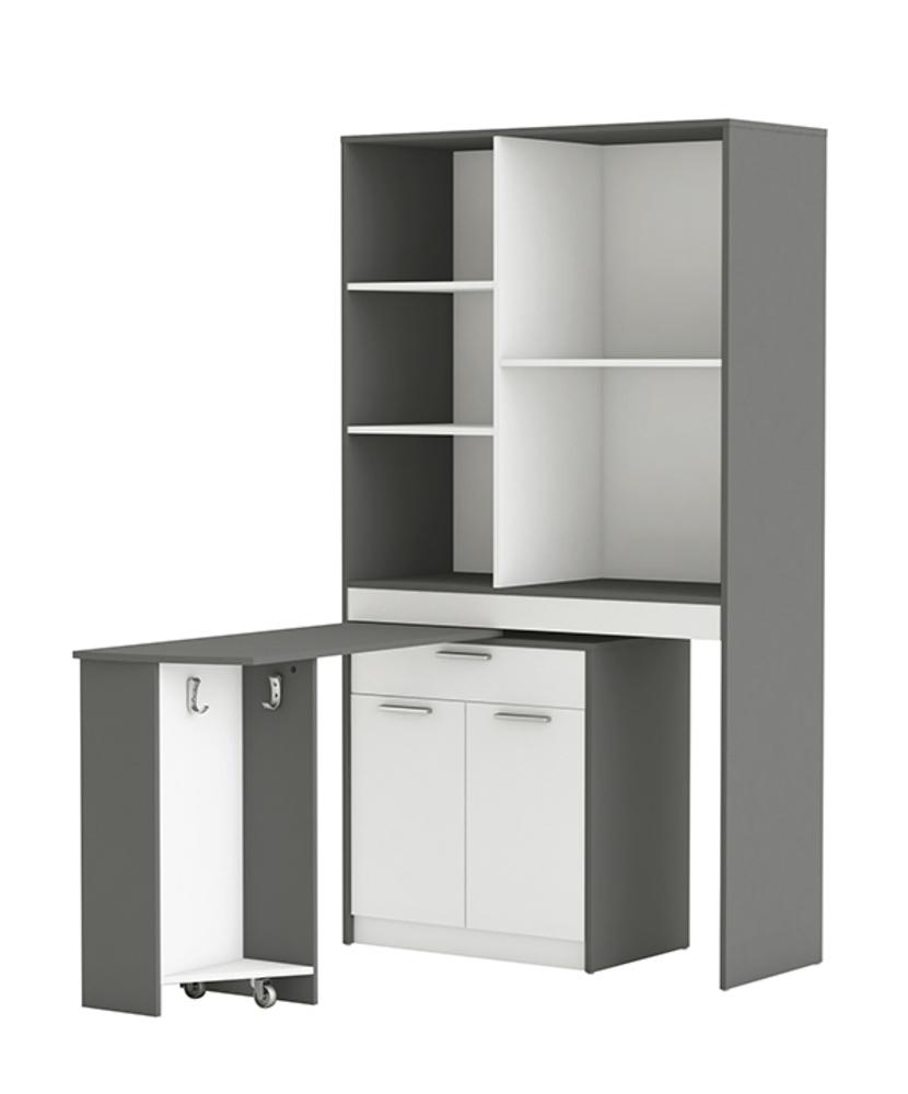 meuble de rangement urban blanc gris