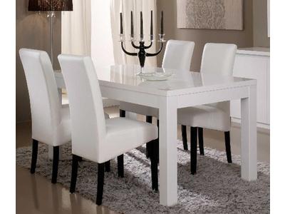 Table de repas Roma laqué blanc
