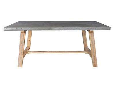 table de repas wild pin cendre beton cendre. Black Bedroom Furniture Sets. Home Design Ideas