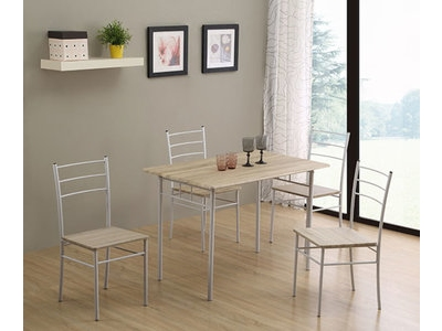 table 4 chaises daily chene grise blanc. Black Bedroom Furniture Sets. Home Design Ideas