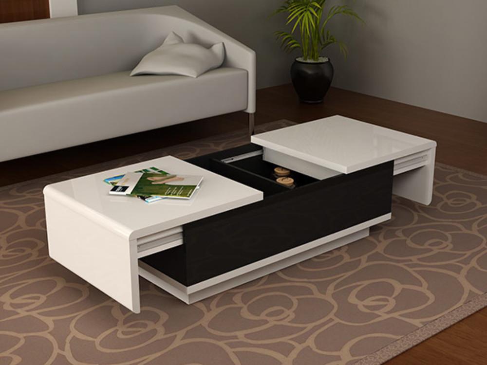 table basse delta blanc noir. Black Bedroom Furniture Sets. Home Design Ideas