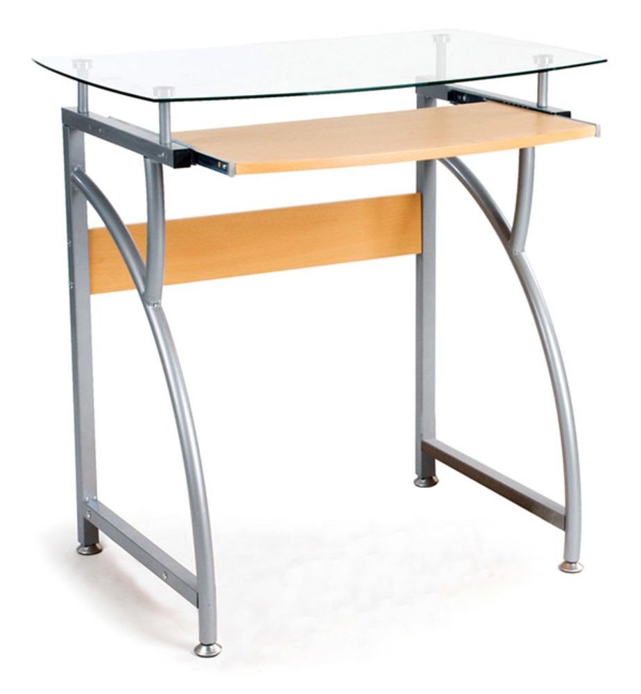 Bureau beno gris hetre for Meuble bureau 76