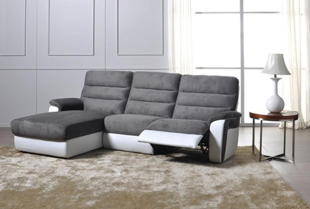 canap d 39 angle gauche relax electrique biaritz aruba gris. Black Bedroom Furniture Sets. Home Design Ideas