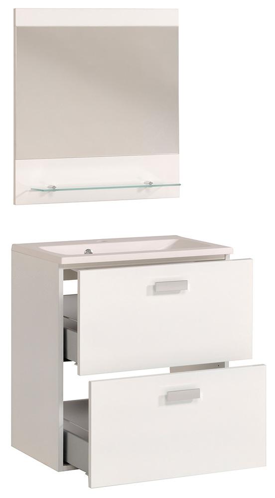Bloc 60 studio 2 laque blanc - Meuble salle de bain blanc laque ...