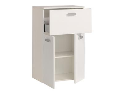Meuble bas 1 tiroir 2 portes Studio 2 laque blanc