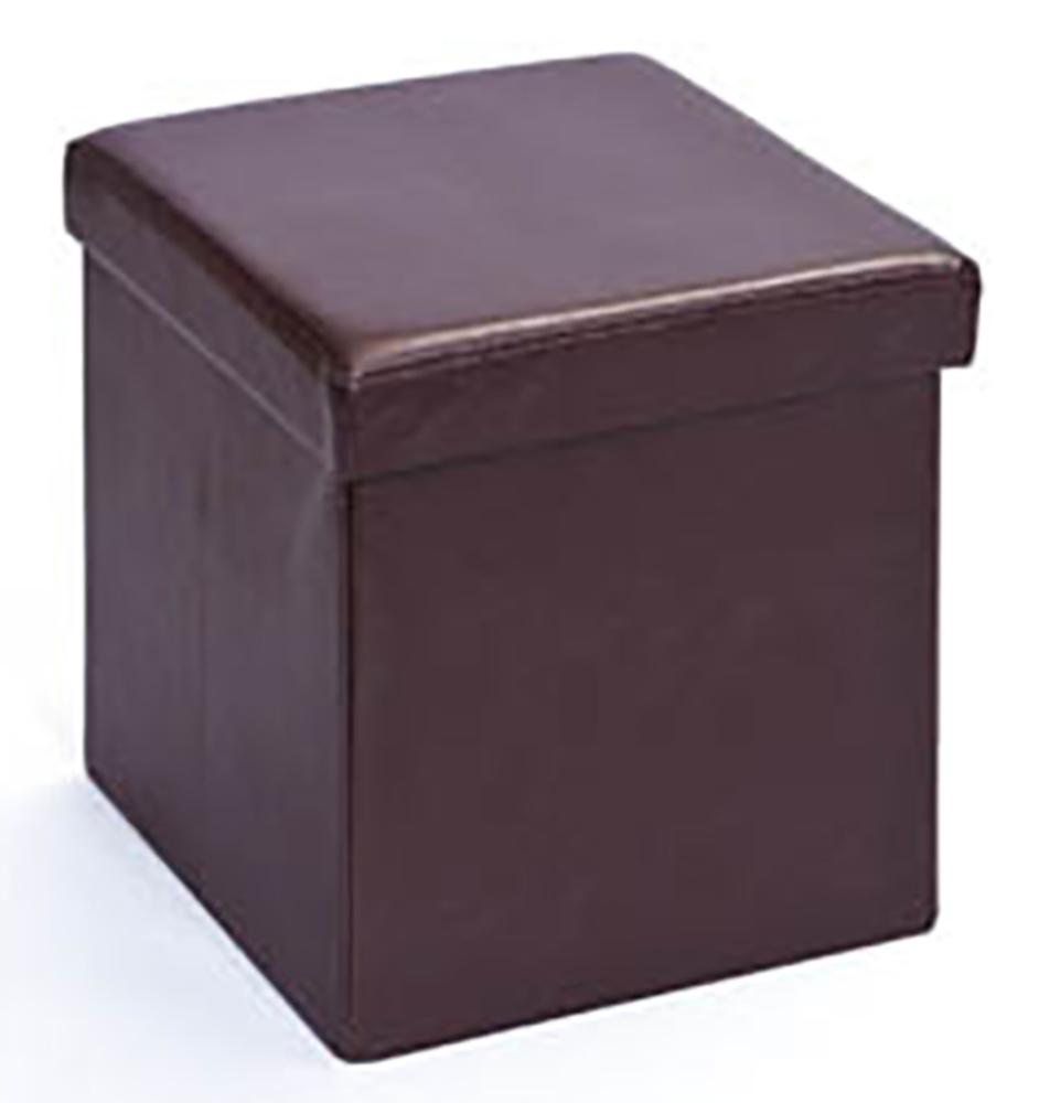 pouf pliable setti 2 marron. Black Bedroom Furniture Sets. Home Design Ideas