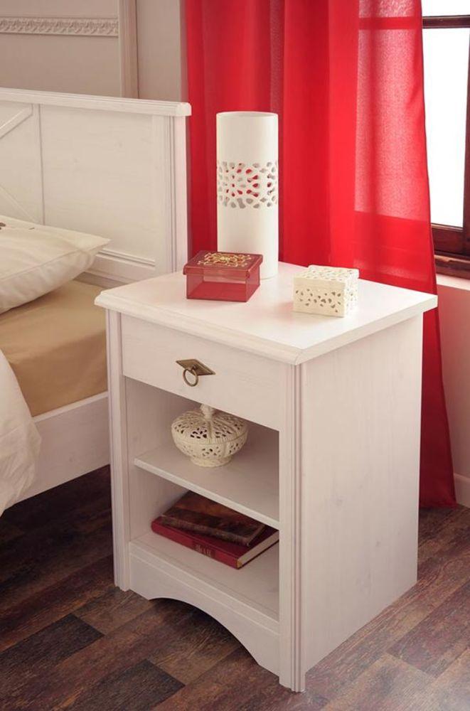 Chevet marion blanc - Chevet blanc romantique ...