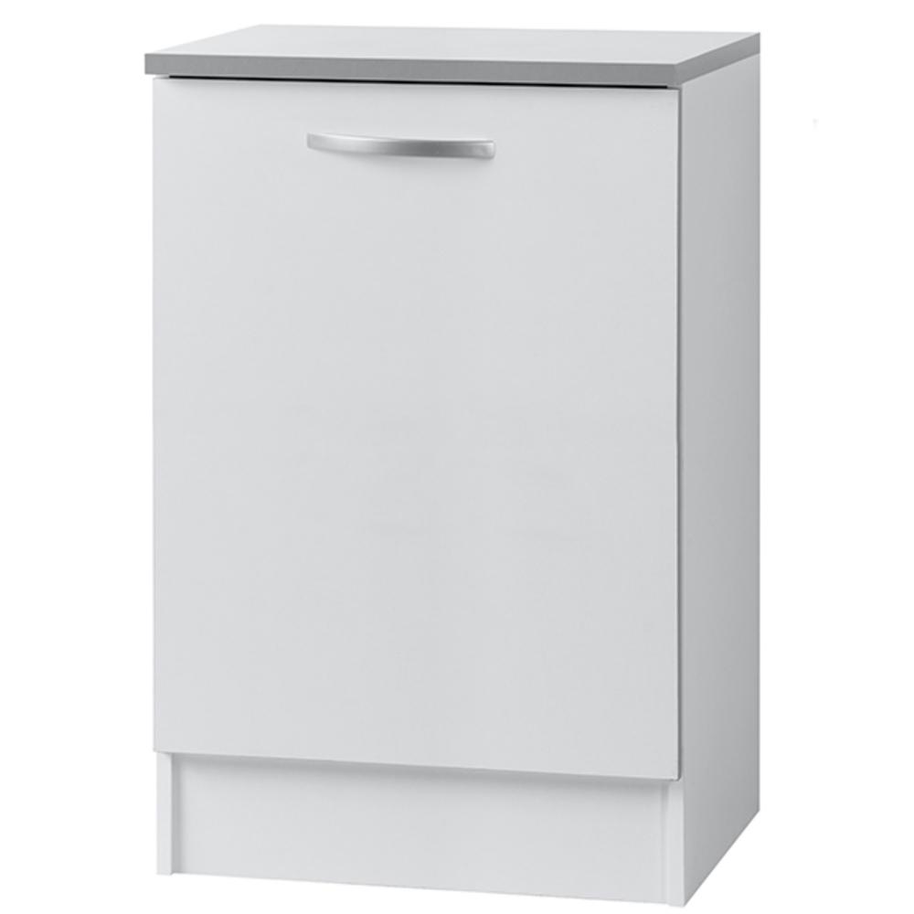 Element bas 1 porte season blanc blanc mat l 60 x h 86 x p 60 for Element bas salle de bain