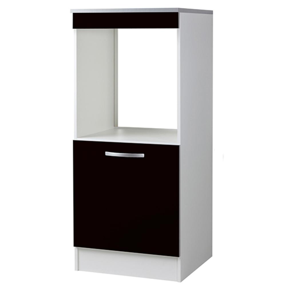Demi armoire four season noir - Cuisine meuble noir ...