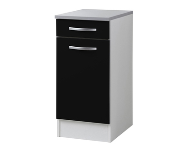 Element bas 1 porte Season noir