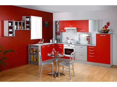 Element bas 2 portes 1 tiroir Season rouge