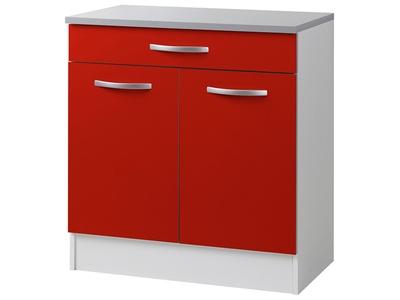 Element bas 2 portes 1 tiroir Season rouge