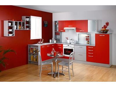 Element bas 2 portes 2 tiroirs Season rouge