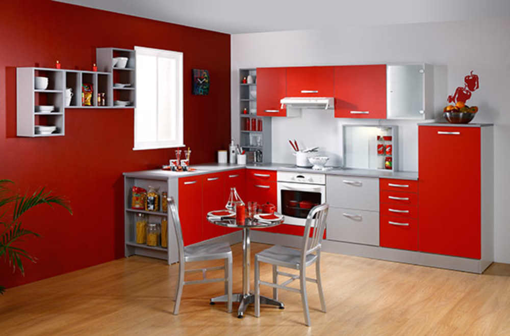 Element bas angle season rouge - Element d angle cuisine ...