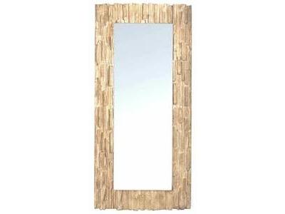 Miroir effet bois Floqué