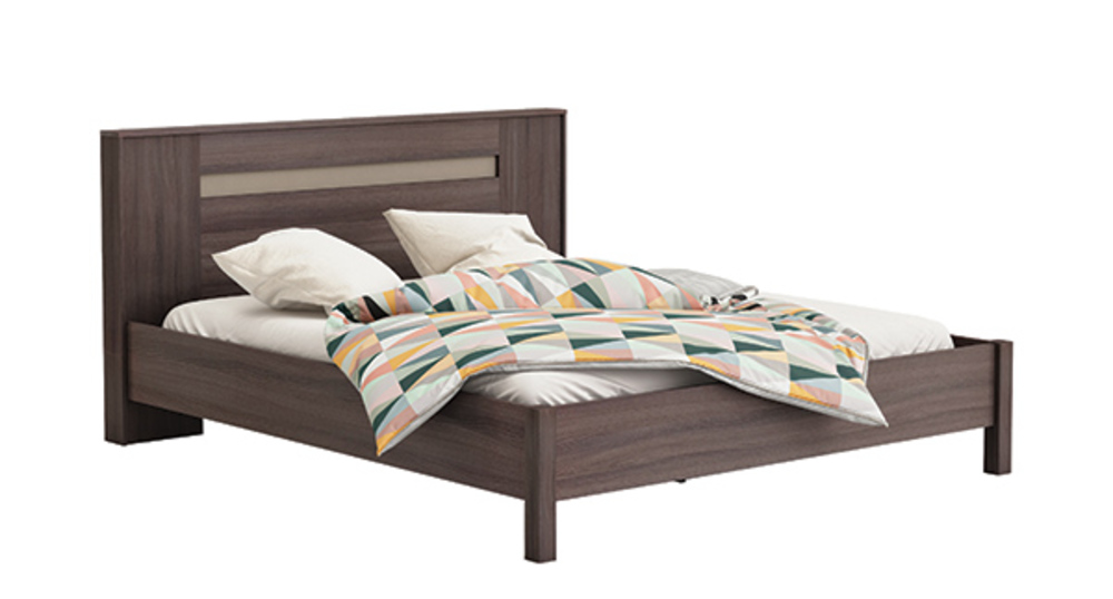 lit georgia chene vulcano basalte. Black Bedroom Furniture Sets. Home Design Ideas