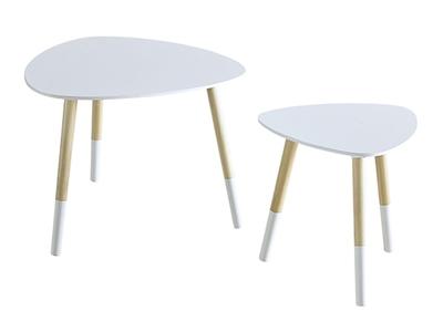 Lot de 2 tables basses Sok