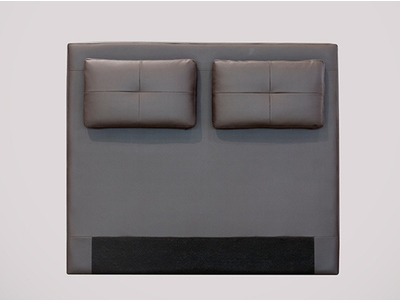tete de lit avec coussin mirko marron 23 l 140 x h 100. Black Bedroom Furniture Sets. Home Design Ideas