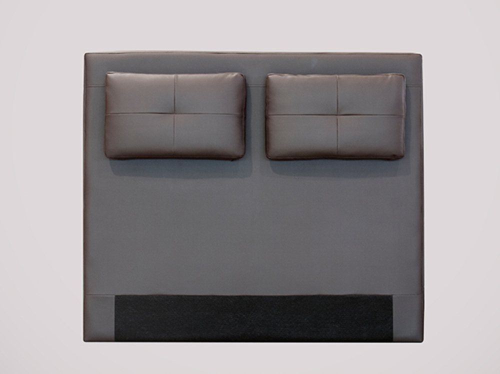 Tete de lit avec coussin mirko marron 23 l 160 x h 100 for Suspension chambre enfant avec matelas mousse ou memoire de forme