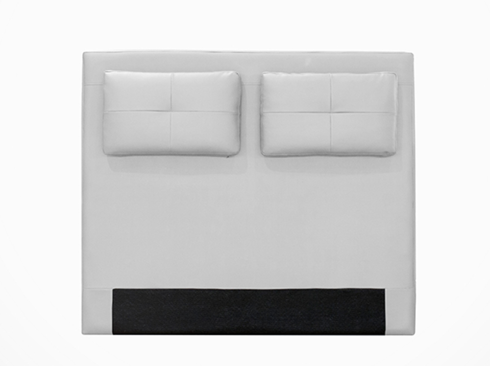tete de lit avec coussin mirko blanc 17 l 160 x h 100. Black Bedroom Furniture Sets. Home Design Ideas