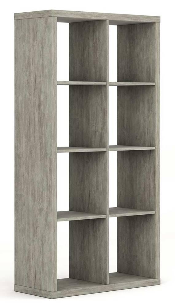 bibliotheque 8 cases pratico beton structure. Black Bedroom Furniture Sets. Home Design Ideas