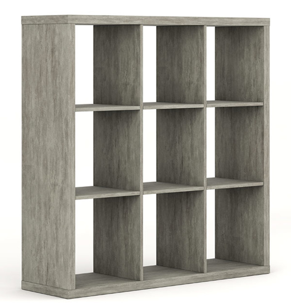 bibliotheque 9 cases pratico beton structure. Black Bedroom Furniture Sets. Home Design Ideas
