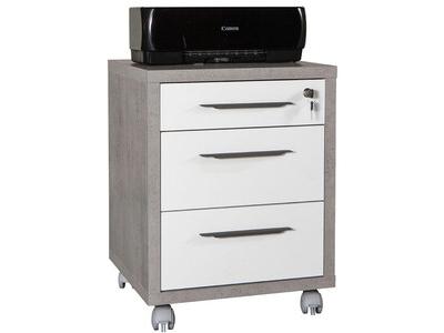 Caisson 3 tiroirs Ufficio blanc/gris