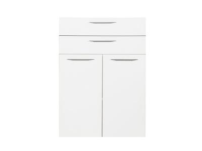 Jeu de 2 portes et 2 tiroirs Ufficio blanc/gris