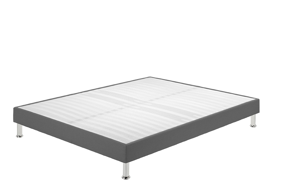 sommier tapissier sl 15 3d gris l 90 x h 15 x p 190. Black Bedroom Furniture Sets. Home Design Ideas