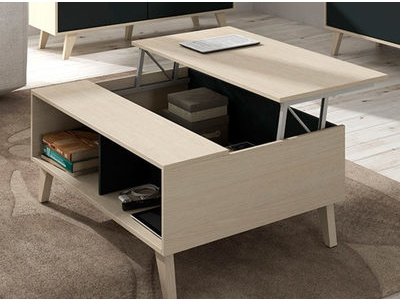 table basse relevable gozo blanc brillant. Black Bedroom Furniture Sets. Home Design Ideas
