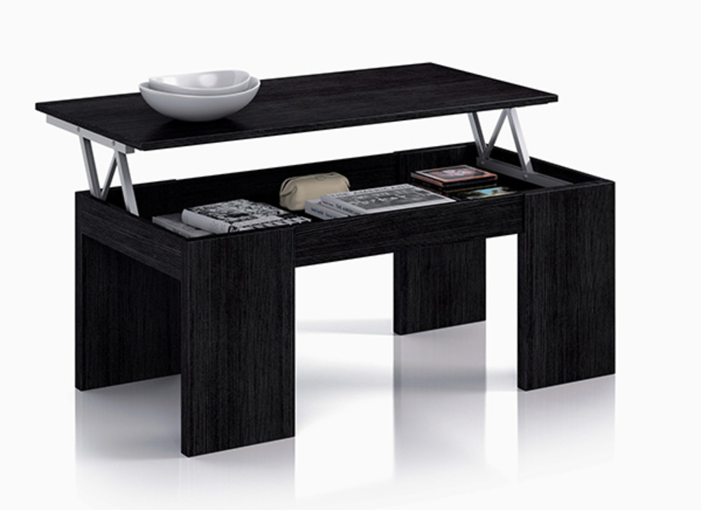table basse relevable gozo noir. Black Bedroom Furniture Sets. Home Design Ideas