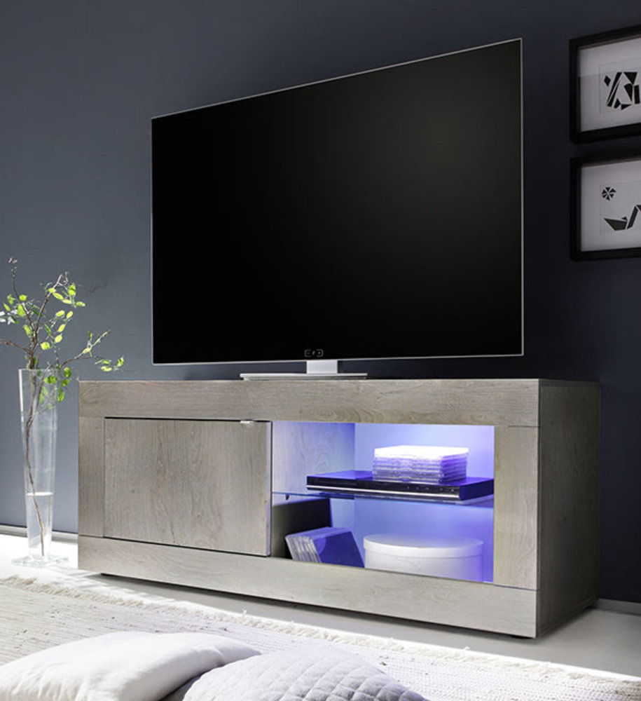 Meuble tv basic gris for Meuble sejour gris