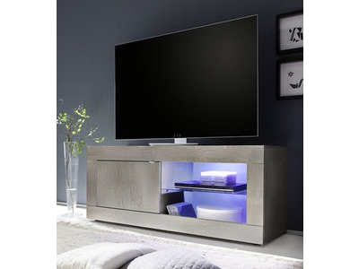 Meuble tv Basic pin blanchi