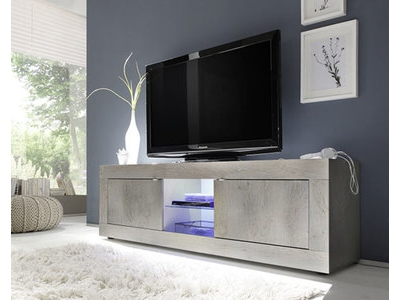 meuble tv basic costa pin blanchi. Black Bedroom Furniture Sets. Home Design Ideas