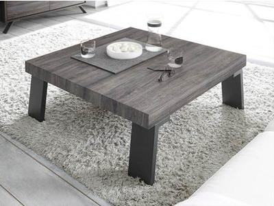 Table basse avec pi�tement metal