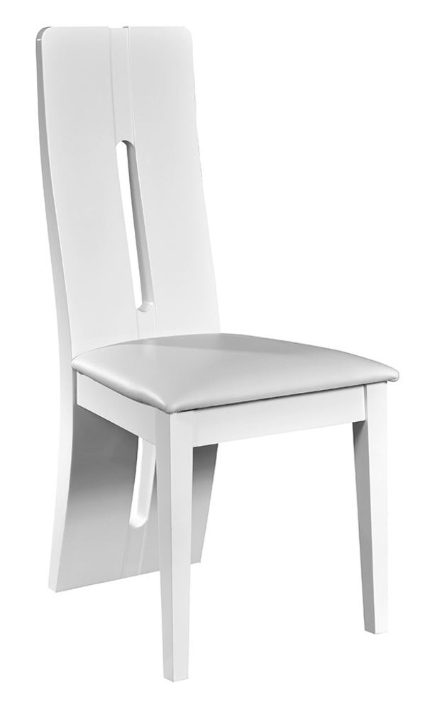 Chaise electra laque blanche - Chaise salle a manger blanche ...