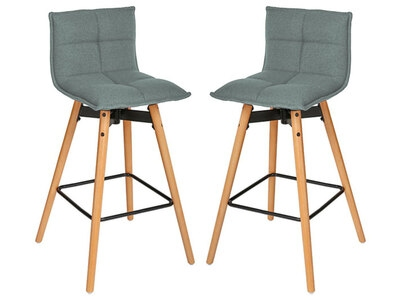 Lot de 2 tabourets de bar Atiel