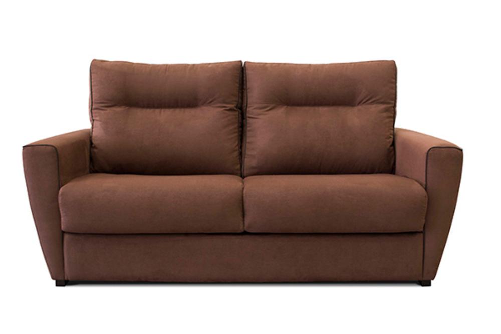 canap convertible silvia marron. Black Bedroom Furniture Sets. Home Design Ideas
